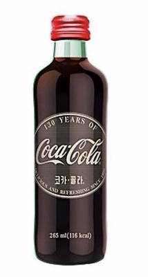 RARE Coca Cola 130th Anniversary Limited Edition Glass Bottle 265ml Coke 1PCS
