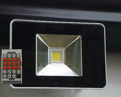Floodlight 10w LED With Microwave Sensor and remote control+DUSK TILL DAWN MODE