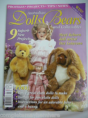 Australian Dolls, Bears & Collectables Vol 12 No 6, cloth dolls, bunny to make