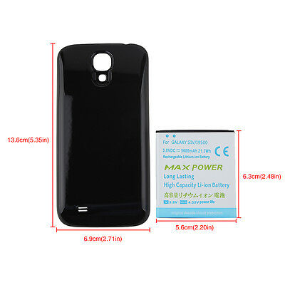 Extended 5600mAh Battery + Black Back Case Cover For Samsung Galaxy S4 SIV i9500