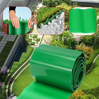 9m Plastic Garden Grass Fence Flexible Path Lawn Edging Green Edge Gravel Border