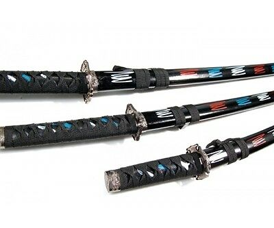 Azan Japanese Samurai Katana Set Black
