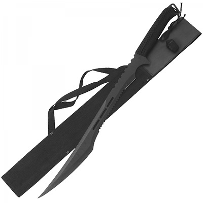 Dark Ninja Tactical Sword with Shoulder Harness