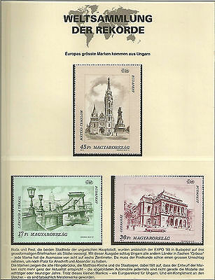 Hungary Ungarn 1993 Expo '93 World's Fair Budapest Largest European stamps MNH