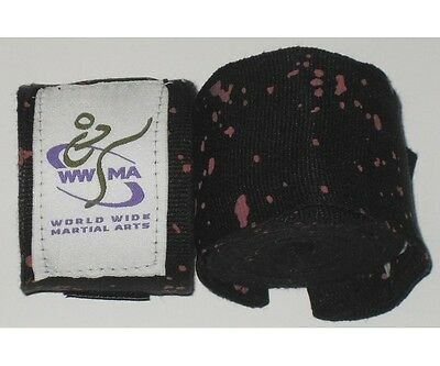 WWMA Pro Series hand wraps 5m long black and red ELASTIC