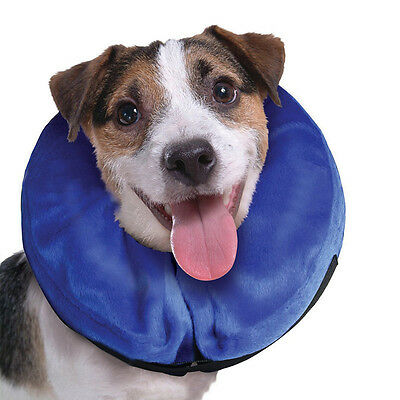 Inflatable Elizabethan Pet Dog Collar Cone Stop Biting Scratching Vet