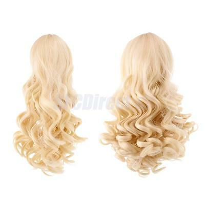 2 Wavy Curly Hair Wig Heat Safe for 18'' American Girl Doll DIY Making#4+#10
