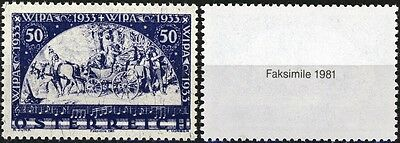 Austria  FACSIMILIE of 1933 WIPA Stamp As Shown - REPRODUCTION from 1981
