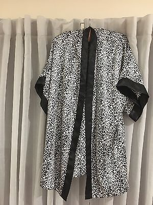 Cotton On Body Leopard Print Negligee, Robe - Black & White Size M-L