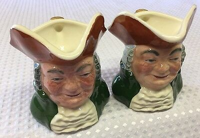 Two Matching Sylvac Jugs Squire Hand Painted Ideal For Sauce 11cm Tall