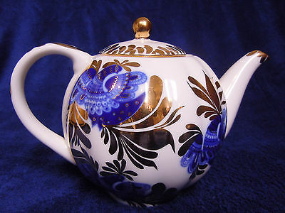 RUSSIAN IMPERIAL PORCELAIN TEAPOT WITH LID 22k
