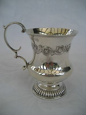 ELEGANT GEORGE IV SOLID SILVER CHRISTENING MUG -Joseph Angell, London,1824.