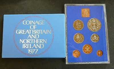 1977 Royal Mint UK Proof 7-Coin Year Set includes Proof Jubilee Crown