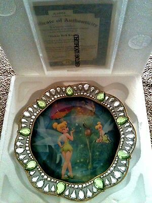 Tinkerbell Tender Kiss Disney Fairy Jeweled Plate LE Bradford Coll Plate SALE