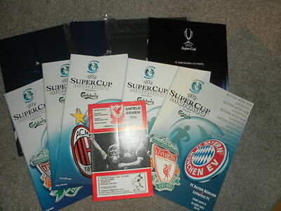 European Uefa Super Cup Final - Choose From List