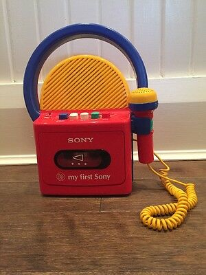Vintage MY FIRST SONY Kid's Audio Tape Cassette Player Model TCM-4300