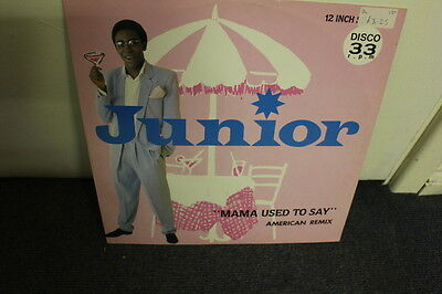 """12"""" Vinyl, Junior, """"mama Used To Say"""" American Re-Mix & Party Re-Mix, Mercury"""