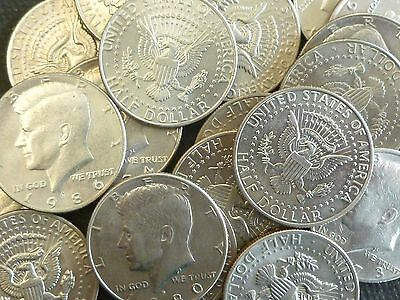 USA Bulk Lot Of 20 Clad Kennedy Half Dollars With Eagle Reverse 1971 Or Later