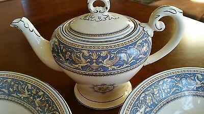 Lot of Myott & Sons, Staffordshire England, Medici Teapot and Serving Bowls