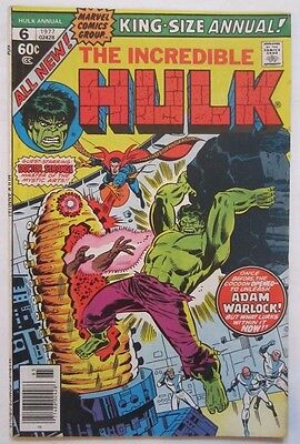 The Incredible Hulk Annual #6 (Nov 1977, Marvel) 1st app Parargon, VF