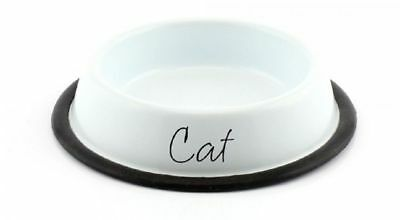 lesser & Pavey Home sweet home  white cat food bowl LP27894