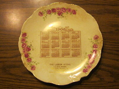 Milwaukee, WI THE LISBON STORE 1908 Vintage Antique Advertising Calendar Plate
