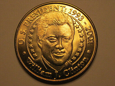US President William J. Clinton Sunoco Presidential Coin Series 2000 token