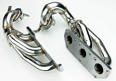 Stainless Steel Bi Turbo Exhaust Manifolds For Audi A6 2.7L S4 B5 V6 1997-2002