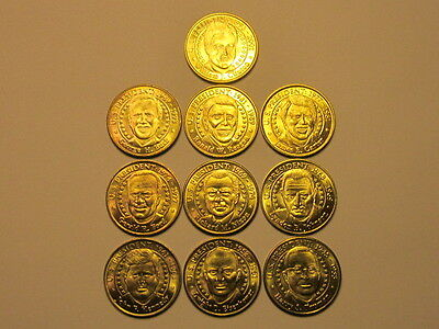 Sunoco Presidential Coin Series 2000 (Presidents 1-10) set of 10 medals / tokens