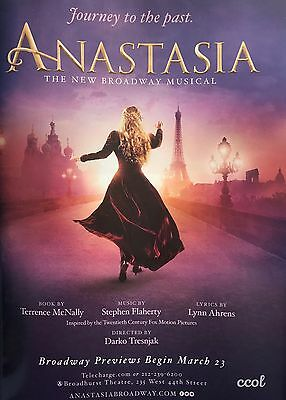 PRINT Ad Anastasia Journey To The Past  Broadway Musical 2017