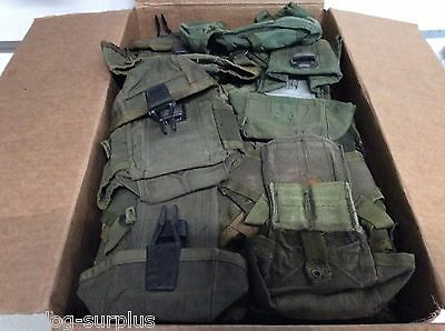Huge Lot of 40 Military Surplus m16 Ammo pouches Cases Triple Mag OD Poor CON