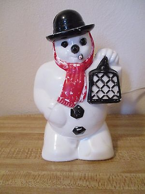 """Vintage Hard Plastic 7"""" Frosty The Snowman Royal Electric Christmas Light"""