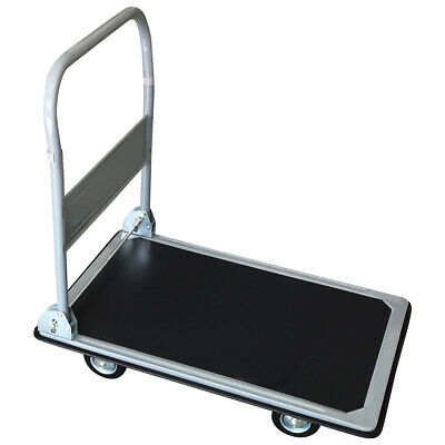 Charles Bentley Heavy Duty Warehouse Folding Platform Trolley Truck 300Kg 600lbs