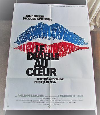 Le Diable Au Coeur (The Devil In The Heart) Original 1976 French Film Poster
