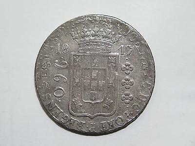 Brazil 1817 960 Reis Spain 1813 C Cj 8 Reales Ex:kurt Prober Coin Collection Lot