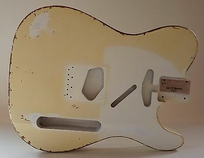 Aged Telecaster body Olympic White