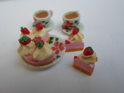 dollshouse, Sylvanian Families food Tea and cake for two