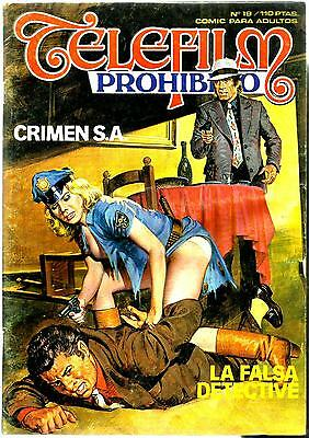 Spanish 1970's Illustrated Erotic Magazine Telefilm Prohibido #19 Fine