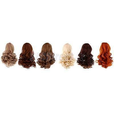 6pcs Wavy Curly Hair Wig for 18inch American Girl Doll DIY Making Accessory