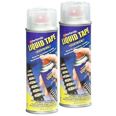 Performix Liquid Tape Electrical, 6 oz Spray Insulation, 2 cans - Clear