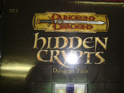 NEW! HIDDEN CRYPTS DT 3 DUNGEON TILES New Dungeons and Dragons GAME 3.5