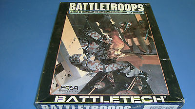 BattleTech Rare! Battletroops 1989 Boxed Set FASA #1637 Factory Sealed Unopened