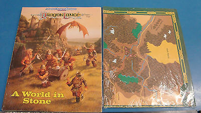 9x Used AD&D items Dragonlance, Forgotten Realms, Greyhawk, Dwarves, Map etc
