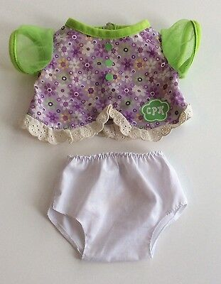 Cabbage Patch Doll Clothes - Flowered Dress And Panties 10 Inch Doll