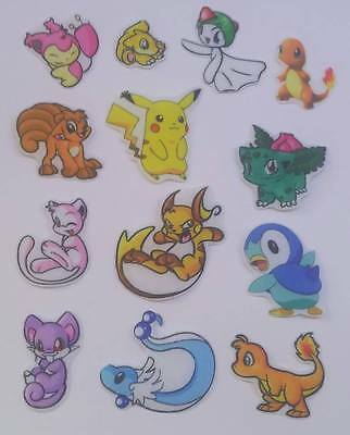 Set of Pokemon fabric iron on motifs/patches embellishments