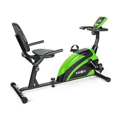 Klarfit Relax Bike 5G Green & Black Recumbent Exercise Bicycle Muscle Trainer