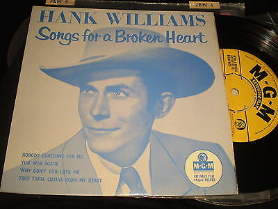 Hank Williams - Songs For A Broken Heart  - Mgm Ep