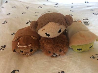 "Disney Tsum Tsum Star Wars 3 1/2"" Cuddly Toys - Choice Of 4 Characters."