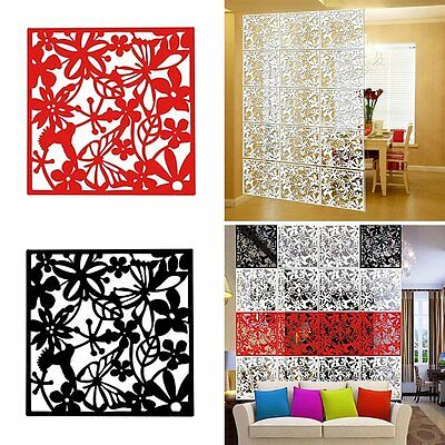 Newest Room Dividers Hollow Floral Screen Bedroom Hanging Panels Wall Arts 4PCS