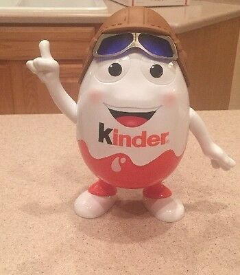 "KINDER Big Egg Aviator Figure 9.5"" Tall RARE HTF"